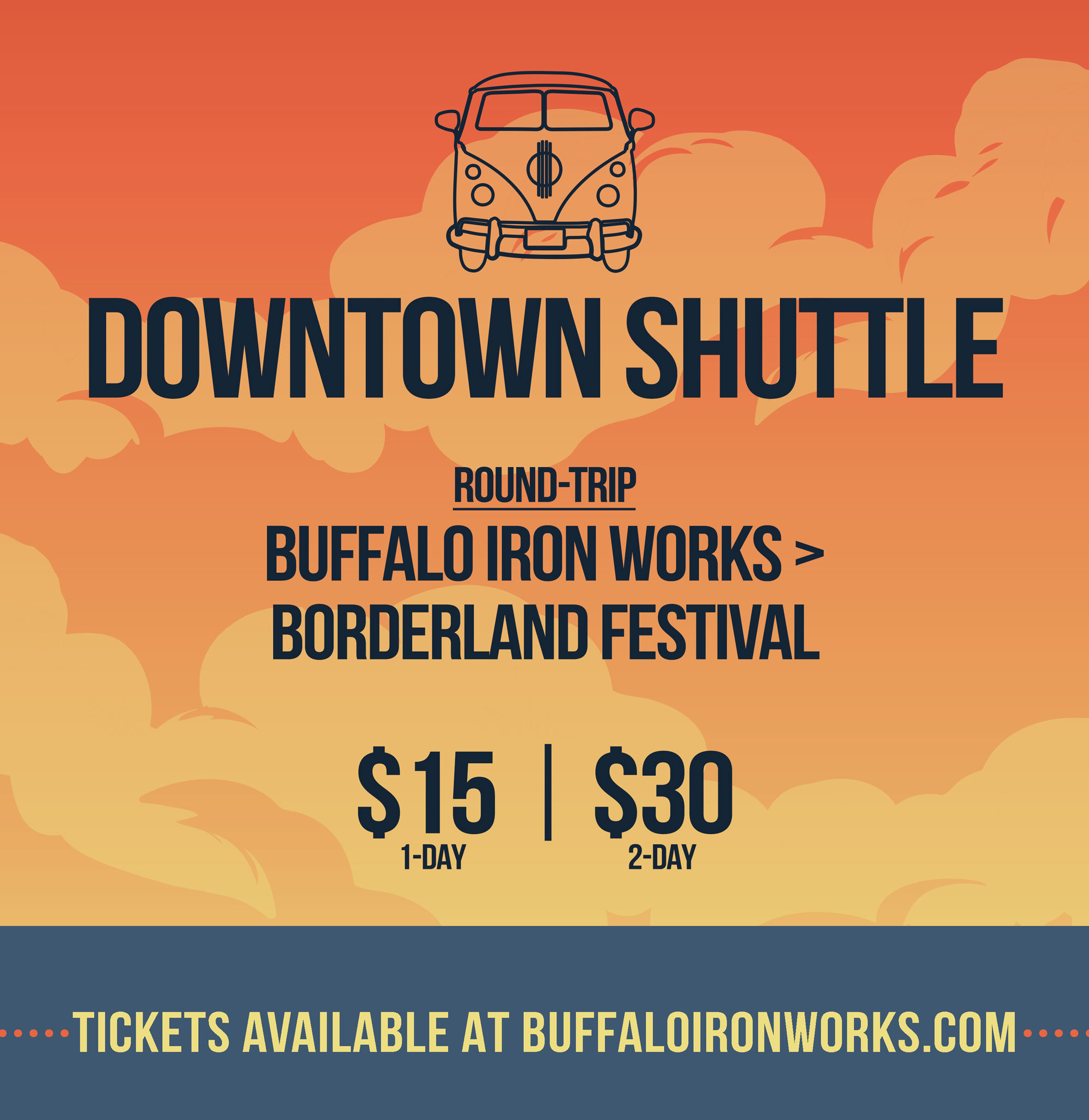 DOWNTOWN SHUTTLE TO BORDERLAND
